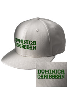 Dominica  Embroidered New Era Flat Bill Snapback Cap