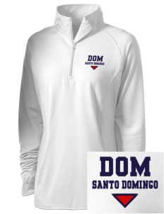 Dominican Republic Embroidered Ladies Stretched Half-Zip Pullover