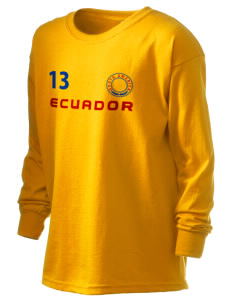 Ecuador Kid's 6.1 oz Long Sleeve Ultra Cotton T-Shirt