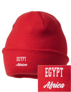 Egypt Embroidered Knit Cap