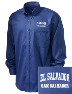 El Salvador  Embroidered Men's Nailhead Non-Iron Button-Down
