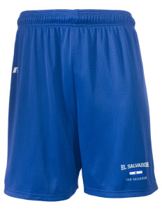 "El Salvador  Russell Men's Mesh Shorts, 7"" Inseam"
