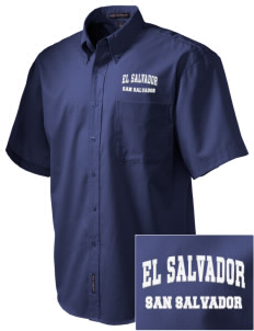 El Salvador Embroidered Men's Easy Care Shirt