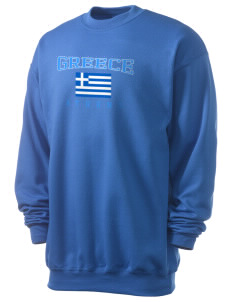 Greece Men's 7.8 oz Lightweight Crewneck Sweatshirt