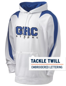 Greece Holloway Men's Sports Fleece Hooded Sweatshirt with Tackle Twill