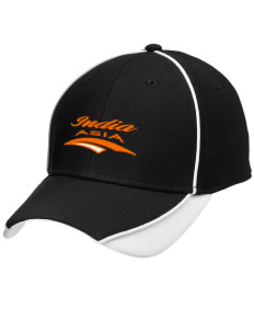 India Embroidered New Era Contrast Piped Performance Cap