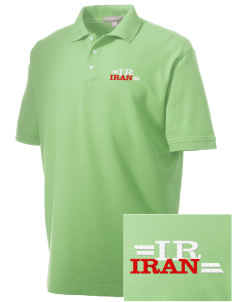 Iran Embroidered Men's Performance Plus Pique Polo