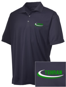 Iran Embroidered Men's Double Mesh Polo
