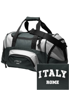 Italy Embroidered Small Colorblock Duffel