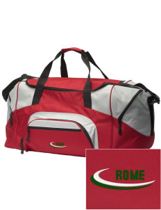 Italy Embroidered Colorblock Duffel Bag