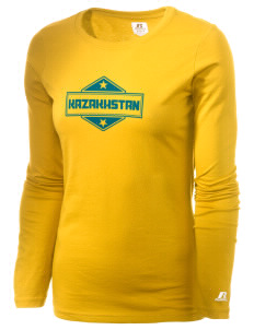 Kazakhstan  Russell Women's Long Sleeve Campus T-Shirt