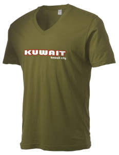 Kuwait Alternative Men's 3.7 oz Basic V-Neck T-Shirt