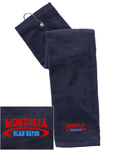 Mongolia Embroidered Hand Towel with Grommet