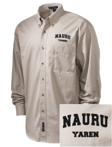 Nauru Embroidered Tall Men's Twill Shirt