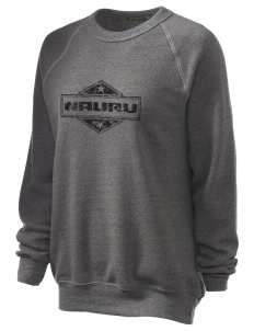 Nauru Unisex Alternative Eco-Fleece Raglan Sweatshirt