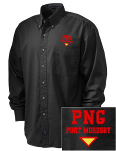 Papua New Guinea Embroidered Men's Twill Shirt