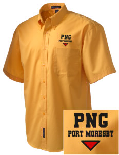 Papua New Guinea Embroidered Men's Easy Care Shirt