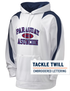 Paraguay Holloway Men's Sports Fleece Hooded Sweatshirt with Tackle Twill