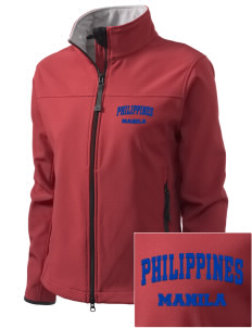 Philippines Embroidered Women's Glacier Soft Shell Jacket