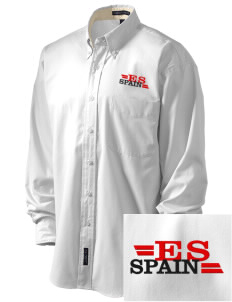 Spain Embroidered Men's Easy-Care Shirt
