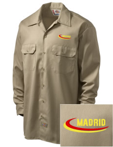 Spain Embroidered Dickies Men's Long-Sleeve Workshirt