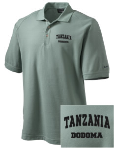 Tanzania Embroidered Nike Men's Pique Knit Golf Polo