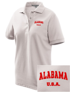 Alabama Women's Embroidered Silk Touch Polo