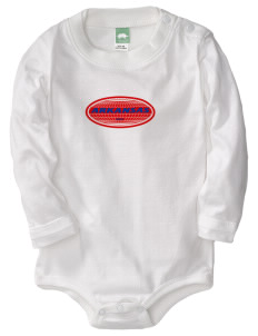 Arkansas  Baby Long Sleeve 1-Piece with Shoulder Snaps