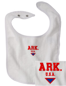Arkansas Embroidered Baby Snap Terry Bib