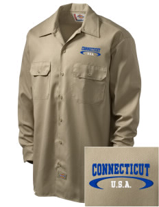 Connecticut Embroidered Dickies Men's Long-Sleeve Workshirt