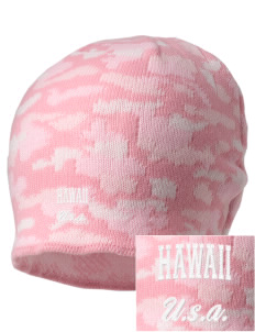 Hawaii Embroidered Camo Beanie