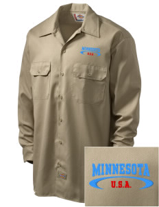 Minnesota Embroidered Dickies Men's Long-Sleeve Workshirt