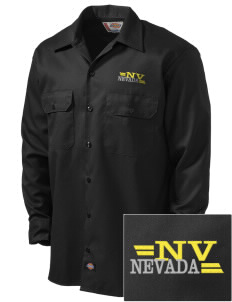 Nevada Embroidered Dickies Men's Long-Sleeve Workshirt