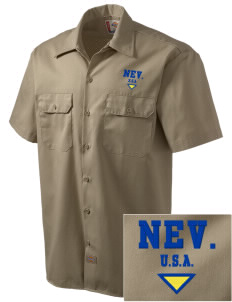 Nevada Embroidered Dickies Men's Short-Sleeve Workshirt