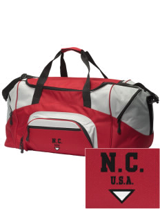 North Carolina Embroidered Colorblock Duffel Bag