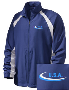 Oklahoma  Embroidered Men's Full Zip Warm Up Jacket