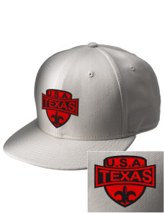 Texas  Embroidered New Era Flat Bill Snapback Cap