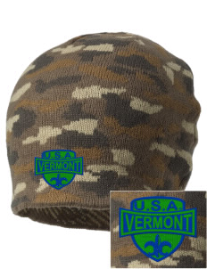 Vermont Embroidered Camo Beanie
