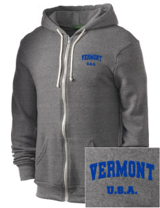 Vermont Embroidered Alternative Men's Rocky Zip Hooded Sweatshirt