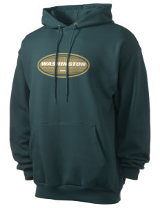 Washington Men's 7.8 oz Lightweight Hooded Sweatshirt