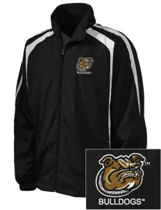 Bryant University Bulldogs Embroidered Men's Colorblock Raglan Jacket