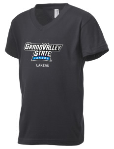 Grand Valley State University Lakers Kid's V-Neck Jersey T-Shirt