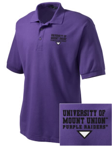 University of Mount Union Purple Raiders Embroidered Men's Silk Touch Polo