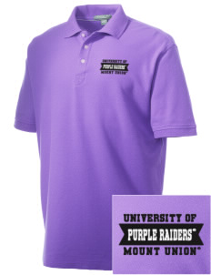University of Mount Union Purple Raiders Embroidered Men's Performance Plus Pique Polo
