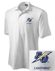 Lehman College Lightning Embroidered Men's Jersey Polo
