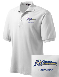 Lehman College Lightning Embroidered Men's Silk Touch Polo