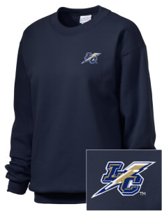 Lehman College Lightning Embroidered Unisex Crewneck Sweatshirt