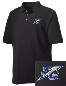 Lehman College Lightning Embroidered Men's Performance Plus Pique Polo