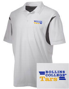 Rollins College Tars Embroidered Men's Back Blocked Micro Pique Polo