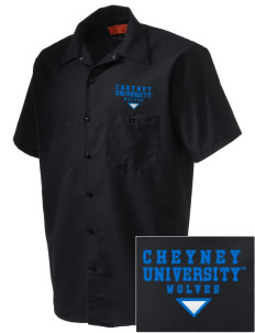 Cheyney University Wolves Embroidered Men's Cornerstone Industrial Short Sleeve Work Shirt